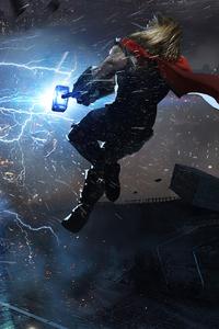 640x960 Thor In Marvels Avengers 4k