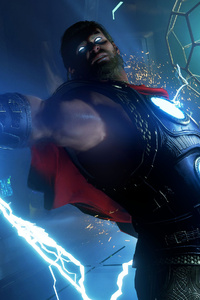 1080x2160 Thor In Marvels Avengers