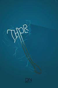 640x960 Thor Logo Minimal 5k
