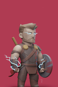 480x800 Thor Ragnarok 4k Art