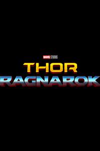 Thor Ragnarok Logo Retro
