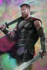 1080x2160 Thor Ragnarok Movie Art 2018