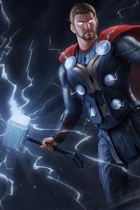 720x1280 Thor Thunder Art