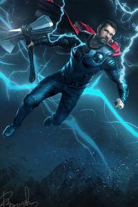 1125x2436 Thor Vs Kratos Art