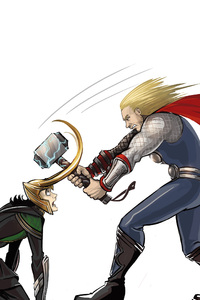 1440x2560 Thor Vs Loki