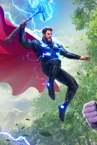 Thor Vs Thanos 4k