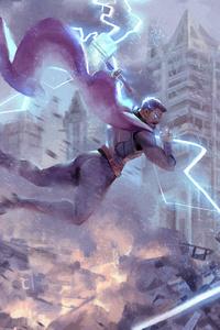 Thor Vs Thanos Art
