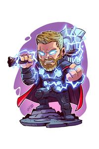 720x1280 Thor With Hammer Minimal 5k