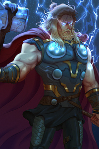 640x1136 Thor With Two Hammer
