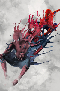 Three Generation Spidermans