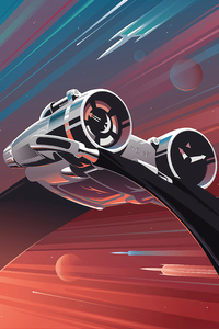 Thunderbolt Scifi Ship 4k