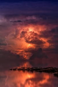 Thunderstorm In Ocean 5k