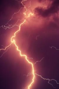 Thunderstorm Lightning Strike