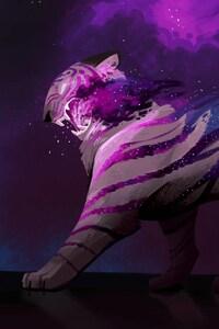 1242x2688 Tiger Art By Alex Braun