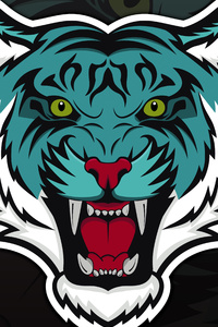 240x400 Tiger Mascot 8k
