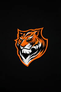 1080x2280 Tiger Minimal 5k