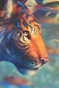 1125x2436 Tiger With Fishes