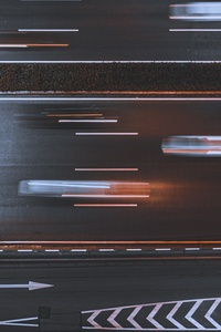 800x1280 Time Lapse Asphalt Road 5k