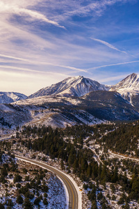 1080x2280 Tioga Pass Mountains Sky 4k