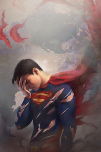 Tired Superman Art