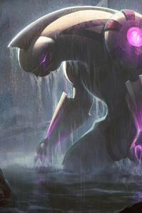 640x960 Titan Palkia Kaiju Pokemon Fan Art 4k