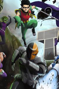 Titans Vs Deathstroke 4k