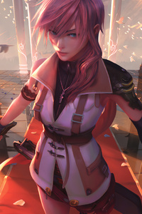 Titular Protagonist Lightning From The Game Final Fantasy XIII 4k