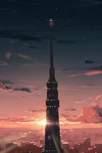 1242x2688 Tokyo City Building 4k