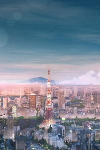 Tokyo Cityscape Anime 4k
