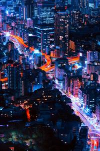 Tokyo Cityscape Neon Lights