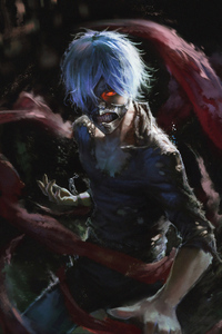 750x1334 Tokyo Ghoul Art 4k