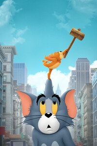 1242x2688 Tom And Jerry Movie 5k