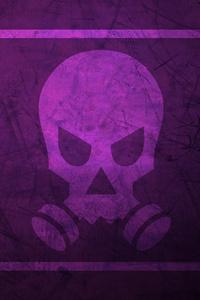 480x800 Tom Clancys Rainbow Six Siege Minimalist Smoke Skull 12k