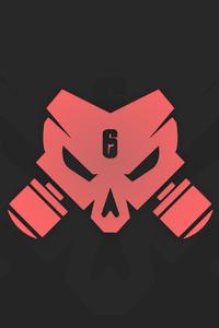 480x800 Tom Clancys Rainbow Six Siege Outbreak Logo Minimal 12k