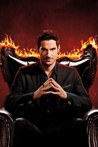 480x854 Tom Ellis As Lucifer Season 5 2020 4k