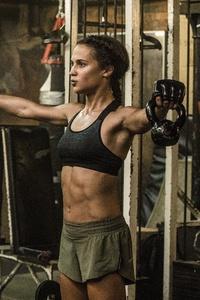 Tomb Raider 2018 Alicia Vikander As Lara Croft Doing Workout