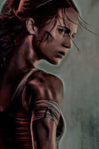 1280x2120 Tomb Raider 2018 Movie Alicia Vikander Artwork