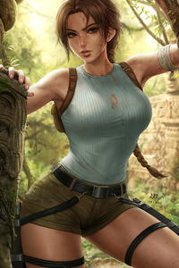 750x1334 Tomb Raider 2020 Artwork