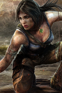 750x1334 Tomb Raider 5k Art