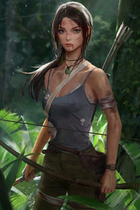 320x568 Tomb Raider Art 4k 2019