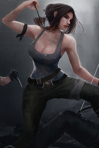 1280x2120 Tomb Raider Art4k