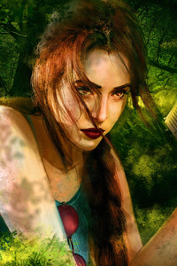 640x960 Tomb Raider Cosplay