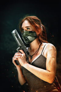 1440x2960 Tomb Raider Cosplay Girl 4k