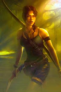 750x1334 Tomb Raider Fantasy Girl 4k