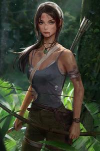 1280x2120 Tomb Raider Lara Croft Artwork