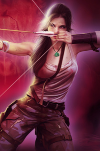 Tomb Raider Lara Croft Girl With Bow And Arrow