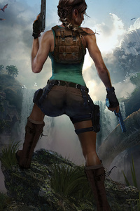 1242x2688 Tomb Raider Lara Croft