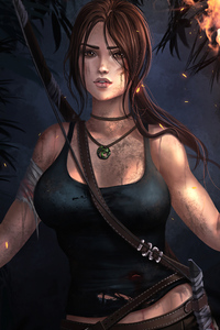 320x568 Tomb Raider Laracroft Artwork 4k
