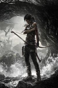 320x568 Tomb Raider Poster 8k