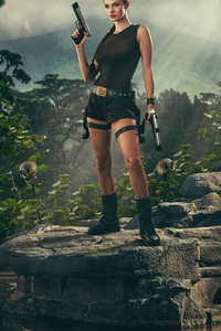 750x1334 Tombraider Cosplay Girl 4k